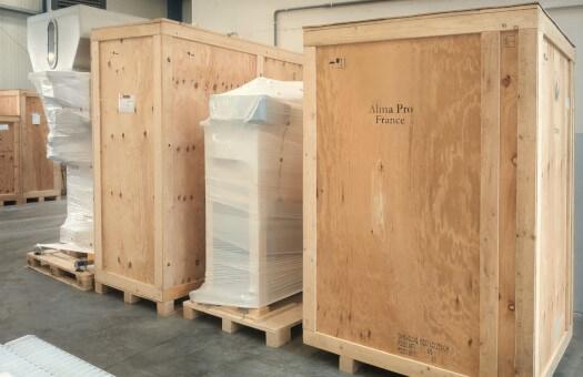 Ensemble de production de farine 100Kg/h prêt à partir pour l'export